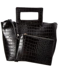 French Connection - Corey Small Croc-embossed Tote - Lyst
