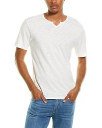 Threads For Thought Notched Slub T-shirt - White