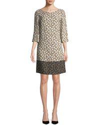 Piazza Sempione - Patterned Silk-blend Shift Dress - Lyst
