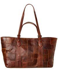 Frye Melissa Multi Handle Leather Tote - Brown