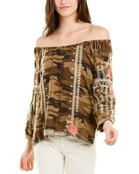 Johnny Was Linen Blouse - Green