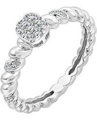 Sabrina Designs 14k 0.13 Ct. Tw. Diamond Ring - Metallic