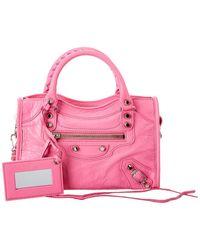Balenciaga Classic City Mini Leather Shoulder Bag - Pink