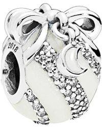 PANDORA Limited Edition Silver Cz Christmas Ornament Charm - Metallic