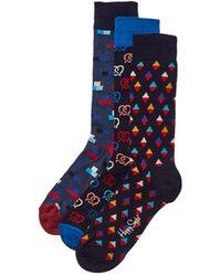 Happy Socks 3pk Socks Gift Box - Blue