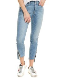 7 For All Mankind - 7 For All Mankind Edie Light Wash Pant - Lyst