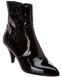 Celine Patent Bootie - Black