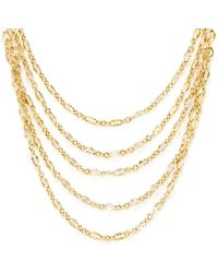 Taylor Kenney Jewelry - 14k Yellow Gold Fill Tiered Statement Necklace - Lyst