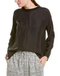 Eileen Fisher Crewneck Silk Top - Black