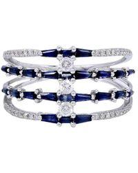 Diana M. Jewels - . Fine Jewellery 14k 1.69 Ct. Tw. Diamond & Sapphire Ring - Lyst