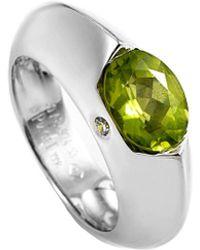 Piaget - Piaget 18k Diamond & Peridot Ring - Lyst