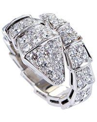BVLGARI Bulgari Serpenti 18k Diamond Ring - Metallic
