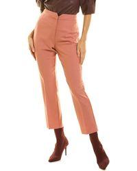 Rebecca Taylor Gab Wool-blend Pant - Orange