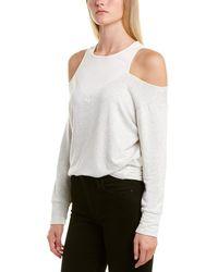 Monrow Cold-shoulder Sweatshirt - Grey