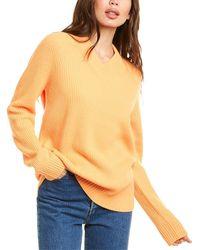 Helmut Lang Oversized Wool & Cashmere-blend Jumper - Orange