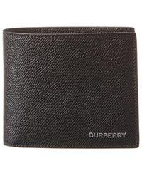 Burberry Grainy Leather International Bifold Wallet - Black