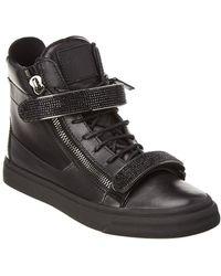 Giuseppe Zanotti - High-top Leather Sneaker - Lyst