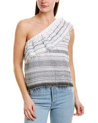lemlem Saba One-shoulder Ruffled Top - White