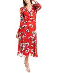 Julia Jordan Chiffon Midi Dress - Red