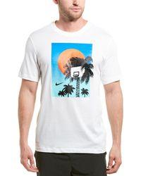 Nike Dri-fit Graphic Basketball T-shirt - White