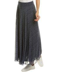 Diane von Furstenberg Tonnah Ditsy Print Silk Skirt - Blue