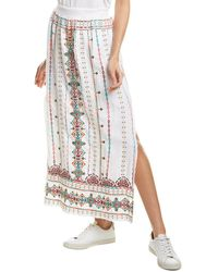 Johnny Was Verena Linen Maxi Skirt - Multicolour
