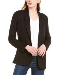 T Tahari Shawl Collar Jacket - Black