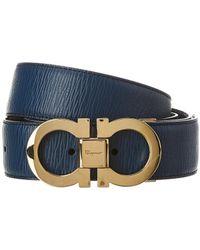 Ferragamo - Double Gancini Reversible & Adjustable Leather Belt - Lyst