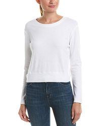 Monrow Open Tie-back Sweatshirt - White