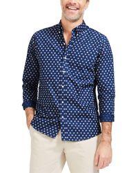 J.McLaughlin Westend Woven Shirt - Blue