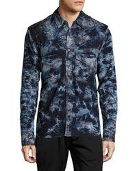 PRPS - Goods & Co. Tie Dye Button-down Shirt - Lyst