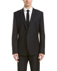 Reiss - Bishop Slim Fit Wool-blend Suit With Flat Front Pant - Lyst