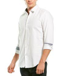 BOSS by HUGO BOSS Structured Regular Fit Shirt - White