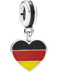 Pandora | Silver Enamel Germany Flag Charm | Lyst