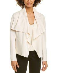 Anne Klein Compression Jacket - White