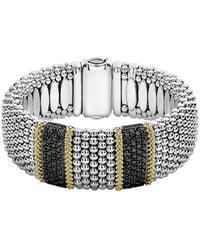 Lagos Caviar Lux 18k & Silver 3.48 Ct. Tw. Diamond Bracelet - Metallic
