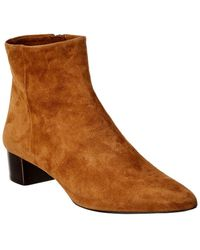 Theory Braxia Suede Bootie - Brown