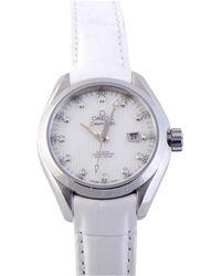 Omega Women's Seamaster Diamond Watch - Metallic
