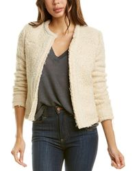 IRO Caster Mohair & Wool-blend Jacket - White