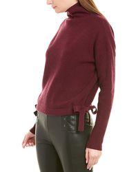 BCBGMAXAZRIA Tie-side Wool-blend Sweater - Purple