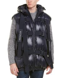 Moncler X Craig Green Buckle Strap Quilted Down Vest - Blue