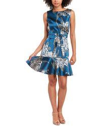N Natori Chrysanthemum Mini Dress - Blue