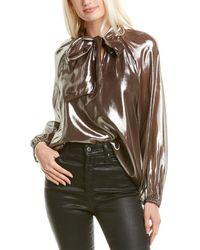 Tanya Taylor Giovanna Silk-blend Top - Metallic