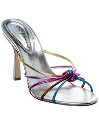 Schutz Rina Leather Sandal - Metallic
