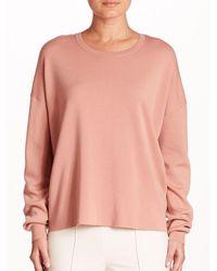 Theory Twylina Open Back Wool Sweater - Pink