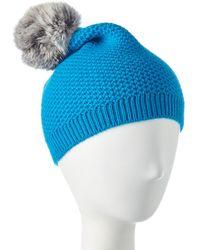 Phenix Cashmere Knit Hat - Blue