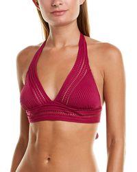 Robin Piccone Crochet Halter Top - Pink