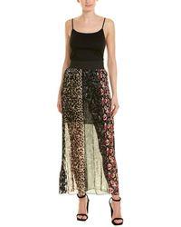Anna Sui Artisan Soiree Silk Maxi Skirt - Black