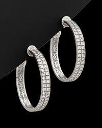 "Konstantino ""diamond Classics"" 18k & Silver 1.98 Ct. Tw. Diamond Hoops - Metallic"