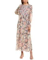 See By Chloé 2pc Silk-blend Maxi Robe Dress Set - Pink